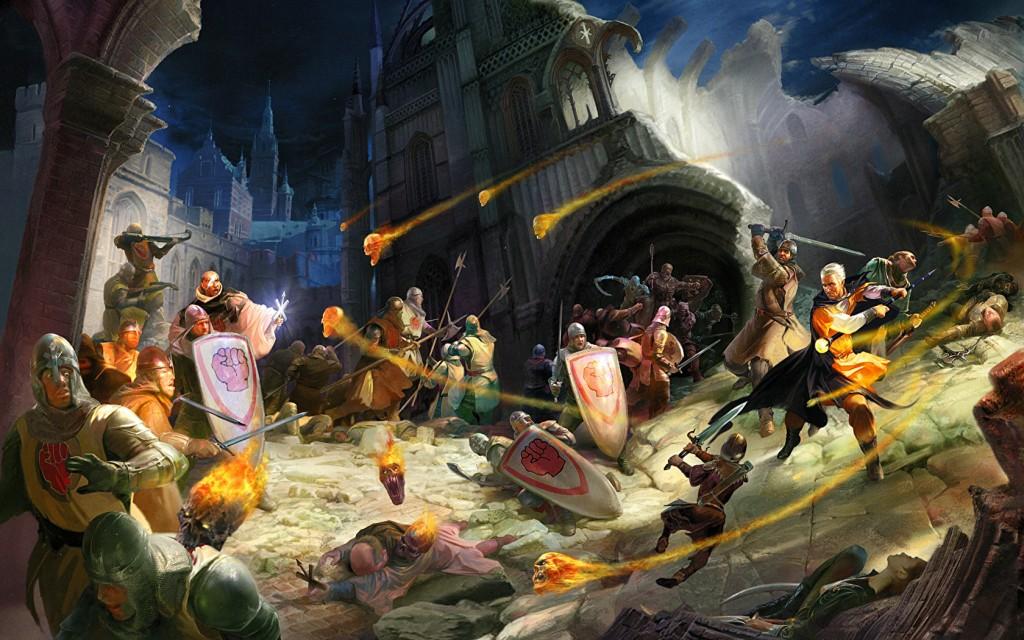 сражения у стены чародеев