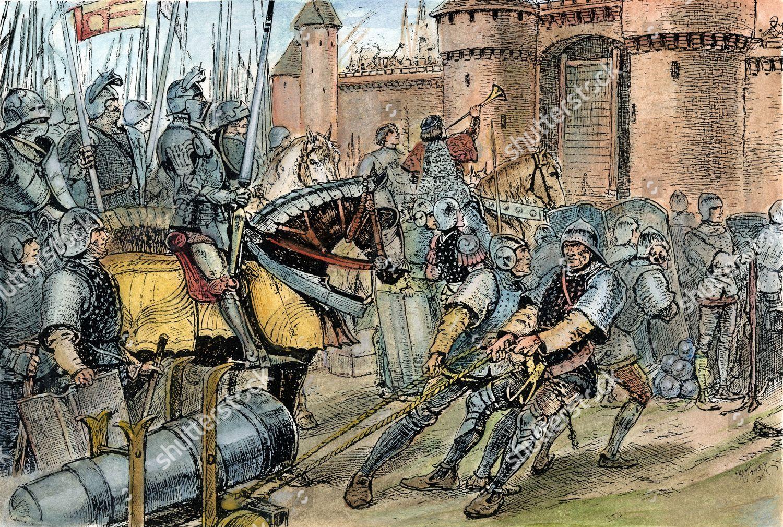 English Army In Calais.